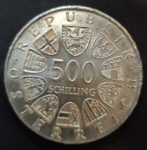 500 Schilling Münzen Österreich