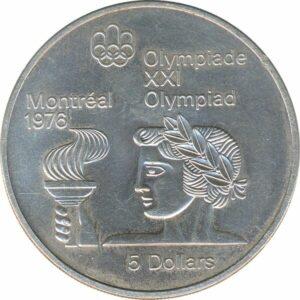 Silbermünzen Kanada Montreal Olympiade 1976