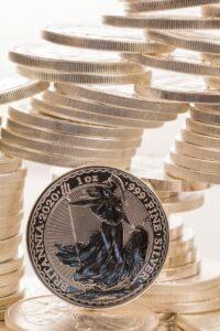 Britannia Silbermünze